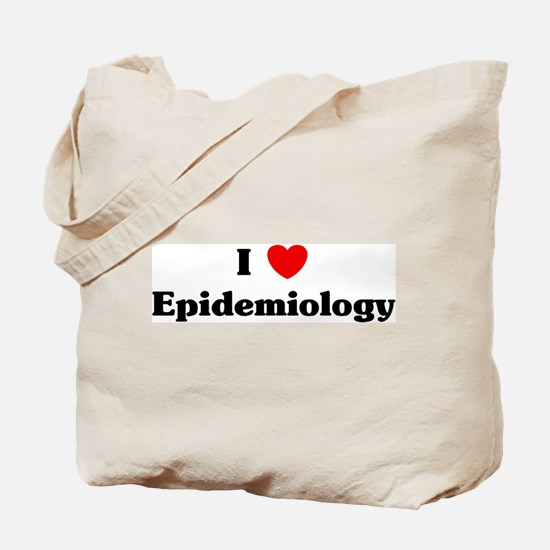 I Love Epidemiology Tote Bag