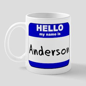 hello my name is anderson  Mug