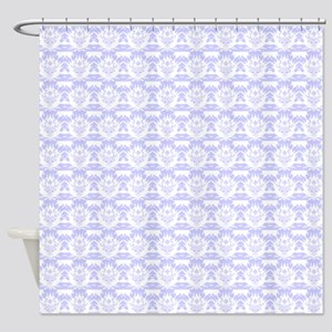 periwinkle damask Shower Curtain