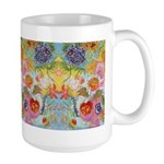 I Love You Mom Garden Delight Large Mug