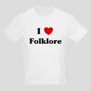 I Love Folklore Kids Light T-Shirt