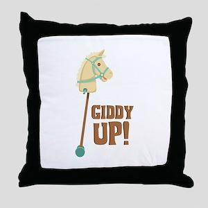 Giddy Up! Throw Pillow