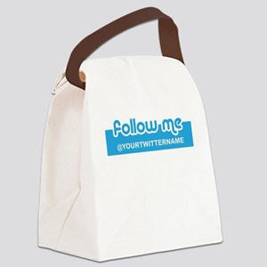 Personalizable Twitter Follow Canvas Lunch Bag