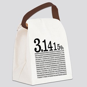 3.1415926 Pi Canvas Lunch Bag