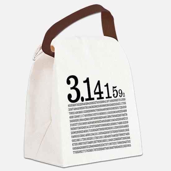 3.1415926 Pi Canvas Lunch Bag