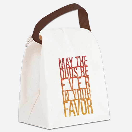 May The Odds Canvas Lunch Bag