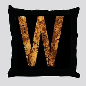 Typo Letter W Throw Pillow