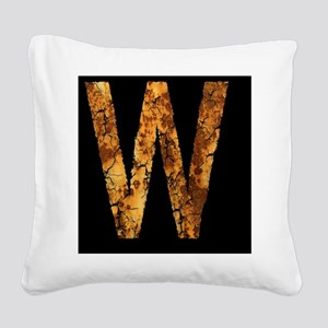 Typo Letter W Square Canvas Pillow