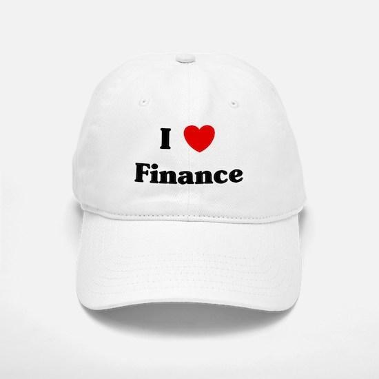 I Love Finance Baseball Baseball Cap