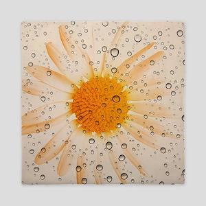 Water Drops Sunflower Queen Duvet
