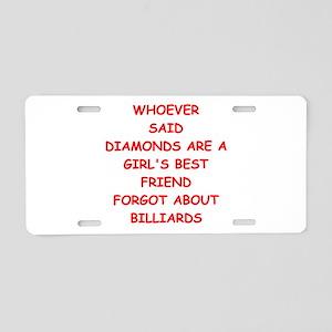 BILLIARDS2 Aluminum License Plate