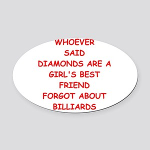 BILLIARDS2 Oval Car Magnet