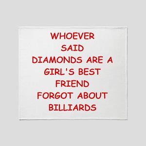 BILLIARDS2 Throw Blanket
