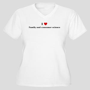 I Love Family and consumer sc Women's Plus Size V-