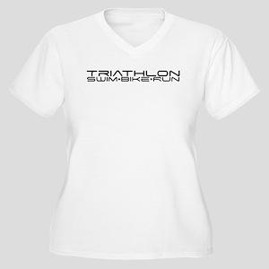 SciFi Triathlon L Women's Plus Size V-Neck T-Shirt