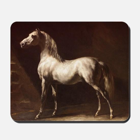 White Arabian Horse Mousepad