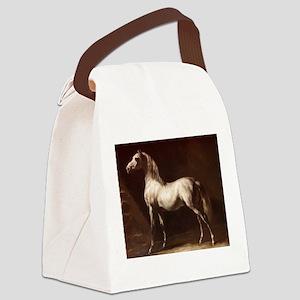 White Arabian Horse Canvas Lunch Bag