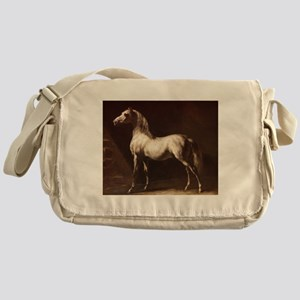 White Arabian Horse Messenger Bag
