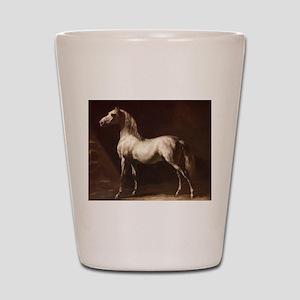White Arabian Horse Shot Glass