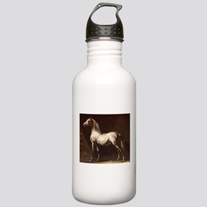 White Arabian Horse Water Bottle