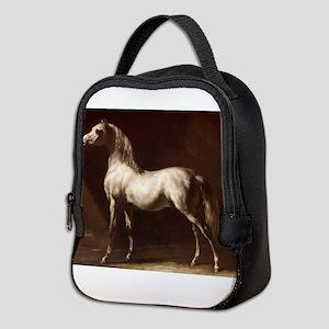 White Arabian Horse Neoprene Lunch Bag