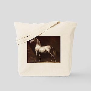 White Arabian Horse Tote Bag