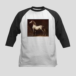 White Arabian Horse Baseball Jersey