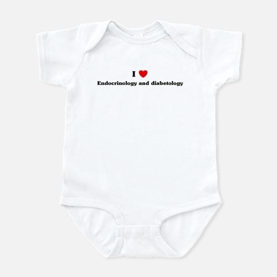 I Love Endocrinology and diab Infant Bodysuit