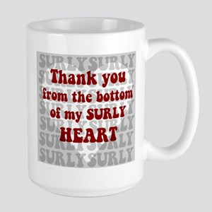 Surly Heart Mugs