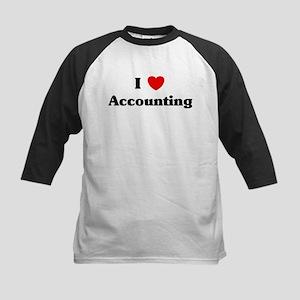 I Love Accounting Kids Baseball Jersey