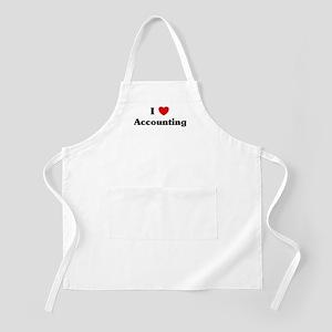 I Love Accounting BBQ Apron