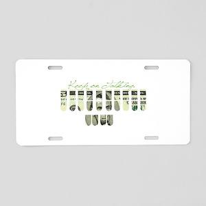keep_on_talking Aluminum License Plate