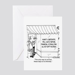 McWit's Carpentry & Lite Puff Pastri Greeting Card