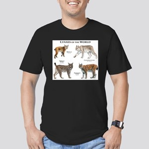 Lynxes of the World Men's Fitted T-Shirt (dark)