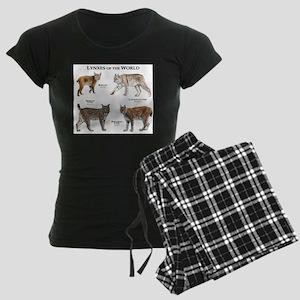 Lynxes of the World Women's Dark Pajamas