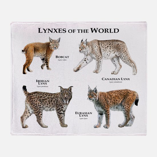 Lynxes of the World Throw Blanket