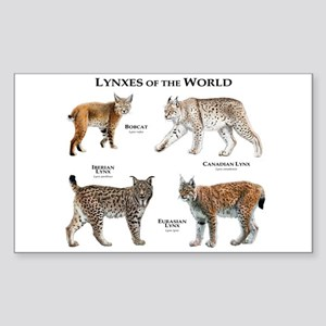Lynxes of the World Sticker (Rectangle)