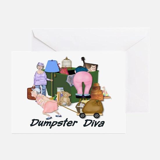 Dumpster Diva Greeting Cards (Pk of 10)