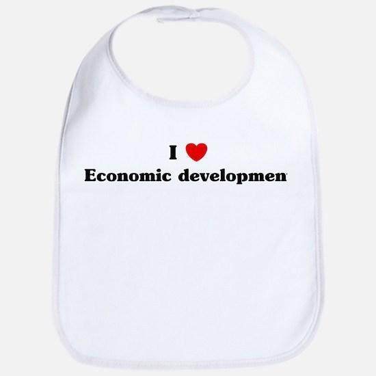 I Love Economic development Bib