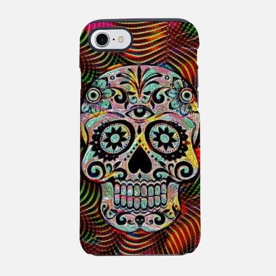 Funky glamorous skull iPhone 7 Tough Case
