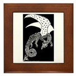 Whitewinged/Blackback Dragon Framed Tile