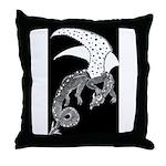 Whitewinged/Blackback Dragon Throw Pillow