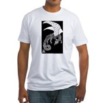 Whitewinged/Blackback Dragon Fitted T-Shirt