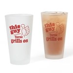This Guy Turns Grills Drinking Glass