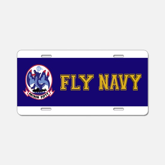 VP 50 Blue Dragons Aluminum License Plate