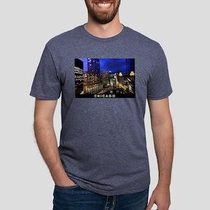 Chicago Cityscape Mens Tri-blend T-Shirt