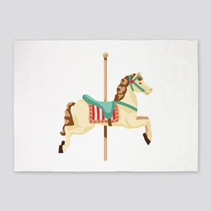 Carousel Horse 5'x7'Area Rug