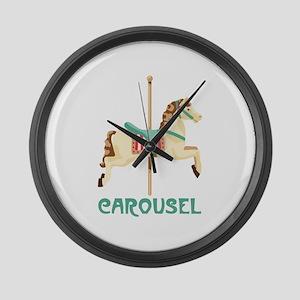 Carousel Large Wall Clock