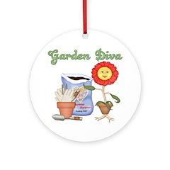 Garden Diva Ornament (Round)