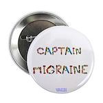 Captain Migraine Button 2.25